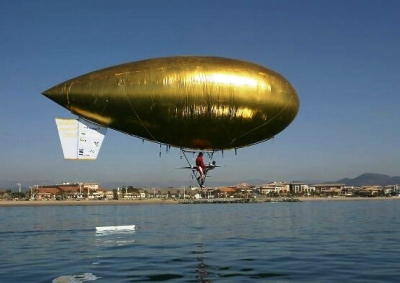 ballon dirigeable a pedale